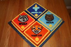 scout cakes | This cake was made for our Cub Scout Blue&Gold Banquet. Each cake ...