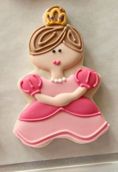Princess Cookie using gingerbread man and small circle cutter
