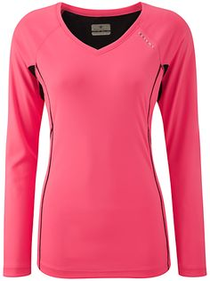 Ronhill Vizion Long Sleeve Top, Fluo Pink/Black - £28