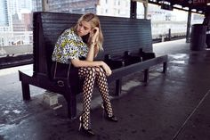 Following up a 1970s inspired spread earlier this month, model Hailey Clauson and photographer Jason Kim reunite for the September 2015 issue of Grazia France. The Sports Illustrated Swimsuit model takes on 1990s fashion while posing in the studio and the New York subway. Styled by Alexandra Benard and Laure Orset, Hailey wears looks from top brands such as Dolce & Gabbana, Moschino and Alexander Wang.