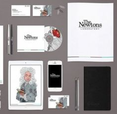 The Newtons opted for a rebrand that was simple, memorable and utterly unique. Note the smart use of colour and the appeal of the illustrations against simple backdrops.