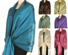 """We have a fine elite evening #chiffon #scarves in full size and very soft for fall, #winter, spring & summer. Our elegant chiffon #evening #shawls & scarves, #prom #wraps, #formal shawls for #women come in beautiful solid colors at #YoursElegantly.  Product No: 2766 Size : 30"""" x 80"""" w/ fringe Price: $29.99"""
