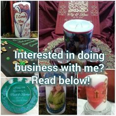 Anyone interested in doing business with me? Make money from the comfort of your home! If so email me. I will be selling my products (personalized candles, canvases, plates, centerpieces,  favors, etc) to you at a wholesale price! You can resell for AS MUCH AS YOU WANT! YEP! :)  For bridal henna & events, I will tell you my lowest fee & u can charge the client as much as you want (for your service of course) & keep that amount to yourself! :)  Easy breezy now lets get started! Check out my…