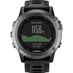 The Fenix 3 from Garmin is a rugged and capable, multisport, GPS watch for both navigation and fitness training.