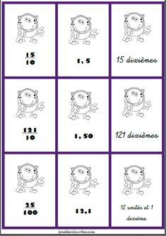 Math 5, Math Fractions, 4th Grade Math, Decimal, Jungle Speed, Cycle 3, Math Lessons, Mathematics, Homeschool