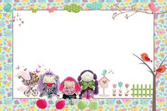 Bonecas de Pano no Jardim – Kit Completo com molduras para convites, rótulos para guloseimas, lembrancinhas e imagens!