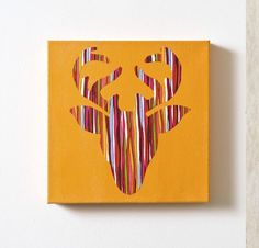 Woodland creatures are always popular in crafting! Create a unique deer head silhouette canvas using fabric Duck Tape and Mod Podge. Plastic Animal Crafts, Home Crafts, Diy Crafts, Quick Crafts, Sewing Crafts, Deer Head Silhouette, Duck Tape Crafts, Tape Art, Animal Projects