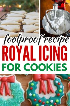 Foolproof Royal icing for Cookies, this easy recipe has step by step directions and is perfect for cookie decorating. Dries hard and makes great looking cookies! www.noshtastic.com #royalicing #icing #cookies #cookiedecorating