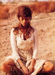 Tyra Banks by Peggy Sirota for Mademoiselle 5 US 1993 - 'How the West was Won'