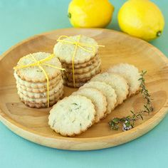 RECIPE: Lemon Thyme Shortbread Cookies | http://adventures-in-making.com/recipe-lemon-thyme-shortbread-cookies/