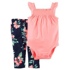 f3f680f32 Carters Newborn 3 6 9 12 18 24 Months Bodysuit   Pants Set Baby Girl Clothes