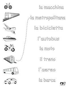 Printables Italian Language Worksheets worksheets italian transportation teaching pinterest transportation