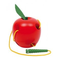 Buy Threading Apple from Mulberry Bush, an online toyshop for traditional and wooden children's toys, gifts and games Toddler Toys, Kids Toys, Children's Toys, Girl Toddler, Christmas Presents For Toddlers, Activity Toys, Activities, Mulberry Bush, Wood