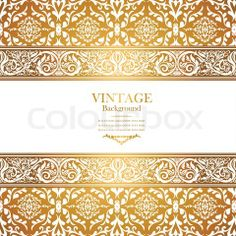 Free Web Page Backgrounds Lace   Vector of 'Vintage royal background, antique, victorian gold ornament ...