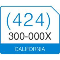 (424) 300 000X. VanityNumbers