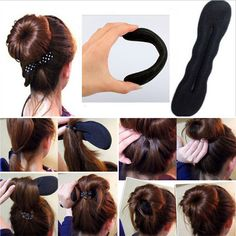 1Pc Small Magic Sponge Clip Foam Bun Curler Swirl Twist Make Beauty Styling Tool