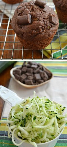 Healthy Chocolate Zucchini Muffins | 30 Healthy After School Snacks for Kids | Quick and Easy After School Snacks for Teens