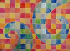 Warm/Cool Watercolour Grid -lessons