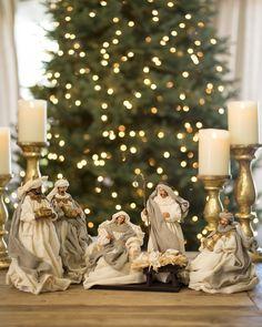 White Christmas Nativity Set | Balsam Hill