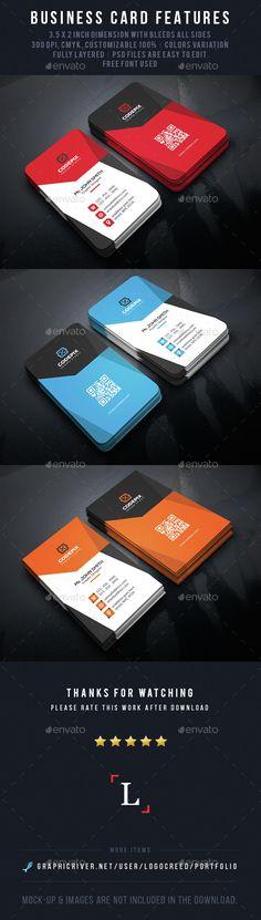 Modern Business Card Template PSD. Download here: http://graphicriver.net/item/modern-business-card/14633975?ref=ksioks