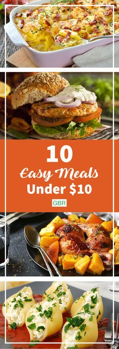 Easy and cheap meals for the weekdays!
