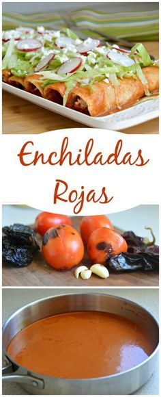 Mexican Recipes These Red Enchiladas are delicious - the sauce is a bit creamy and has a s . Authentic Mexican Recipes, Mexican Food Recipes, Dinner Recipes, Real Mexican Food, Mexican Cooking, I Love Food, Good Food, Yummy Food, Comida Tex Mex