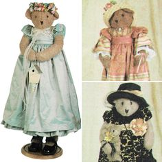 Vintage 2001 Decorative Bears and Clothes! Simplicity Crafts Sewing Pattern 9695, Sunrise Designs by Jana Beus, UNCUT with FACTORY FOLDS by karl79 on Etsy