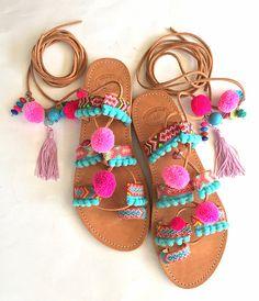 e945b8b57a148 123 Best Pom Pom sandals images