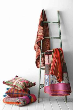 """""""Contrasting edges"""" -- kilims and global fabrics have been in vogue for years. I never tire of them. Home Trends For 2015 6"""