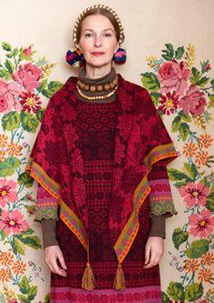 """Liilia"" cotton/wool shawl  – GUDRUN SJÖDÉN"