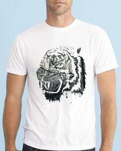 Tiger Design, Instagram Posts, Mens Tops, Tees, Fashion, Moda, T Shirts, Fashion Styles, Fashion Illustrations