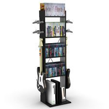 Video Game Console Storage Stand Organizer Rack Media Tower XBOX PS4 Wii Gaming