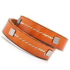 Unique Desert Fever Mens Leather Bracelet Cuff Brown | RnBJewellery