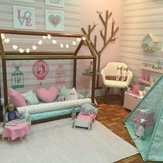 Over 30 elegant and chic decorating ideas for children's bedrooms – for girls and boys – Colorful Baby Rooms Baby Bedroom, Baby Room Decor, Girls Bedroom, Bedroom Decor, Bedroom Ideas, Sister Room, Toddler Rooms, Toddler Girl Bedrooms, House Beds