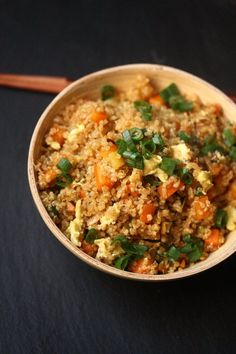 Easy Fried Rice with Quinoa - Gluten-Free and Healthy | Feed Me Phoebe