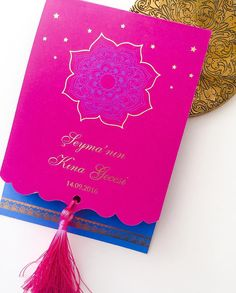 Hint Temalı Kına Gecesi DavetiyesiIndian Themed Henna Night Invitation