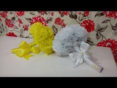 Aula 62 - Como fazer um lindo buquê com flores de papel crepom - YouTube
