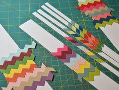 Ribbon Girls {Handmade Cards}: Deconstructed Chevrons