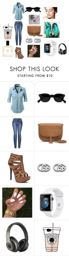 """""""Sin título #9"""" by mariamdepaula on Polyvore featuring moda, LE3NO, 2LUV, Tommy Hilfiger, Chinese Laundry, Gucci y Beats by Dr. Dre"""