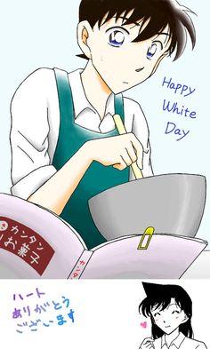 Magic Kaito, Detective Conan Wallpapers, Kudo Shinichi, White Day, Case Closed, Disney Characters, Fictional Characters, Anime, Romance