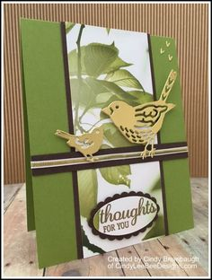 SU Best Birds Gold Foil-  Popped out sentiment matching the DSP background, with no paper waste!