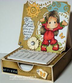 Notizzettel-Box Strawberry Tilda