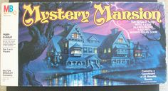 Created by Milton Bradley in 1984, the vintage board game of Mystery Mansion is a unique treasure hunting game.  All players, during the course of the game, enjoy building a large Mystery Mansion while searching through the many fascinating items found in the old home.  Players are on a quest for a hidden treasure chest filled with gold and jewels!