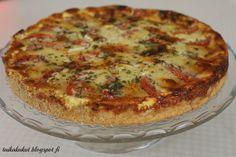 Tarun Taikakakut: Tomaatti-mozzarellapiirakka ∅26cm Savoury Baking, Savoury Cake, Bon Appetit, Quiche, Tart, Sandwiches, Good Food, Food And Drink, Homemade