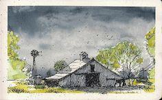 Tim Oliver's Sketchbook: Lubbock, Texas Barn