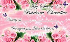 Tarjeta de Invitados para 15 Años #Sweet15 #quinceanera