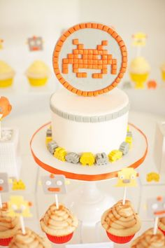 Space Invader Baby Shower - Or any video-game theme...