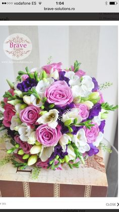 Follow us @SIGNATUREBRIDE on Twitter and on FACEBOOK @ SIGNATURE BRIDE MAGAZINE Pastel Wedding Theme, Pastel Wedding Invitations, Modern Wedding Flowers, Bridal Flowers, Flower Bouquet Wedding, Purple Wedding, Floral Wedding, Bride Bouquets, Bridesmaid Bouquet