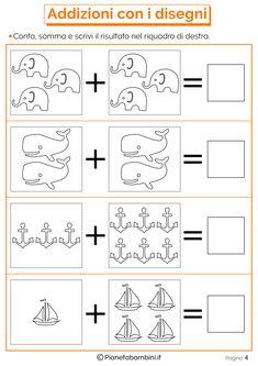 Addizioni e Sottrazioni con Disegni per Bambini | PianetaBambini.it