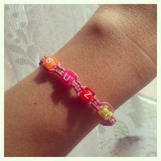 Macrame bracelet with my nickname Macrame Bracelets, Knots, Instagram Posts, Handmade, Accessories, Jewelry, Hand Made, Jewlery, Jewerly